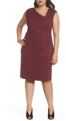 Sejour Asymmetrical Neck Sheath Dress
