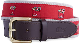 Vineyard Vines University of Maryland Canvas Club Belt
