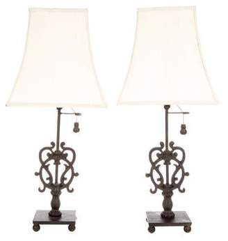 Iron Scroll Table Lamps