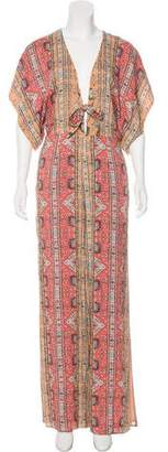 Ale By Alessandra Printed Short Sleeve Jumpsuit