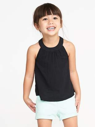 Old Navy High-Neck Slub-Weave Swing Tank for Toddler Girls
