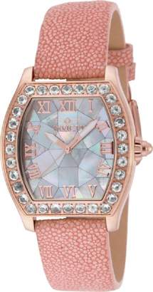 Invicta 17287 Women's Angel Quartz Morganite Bezel Stingray Strap Watch