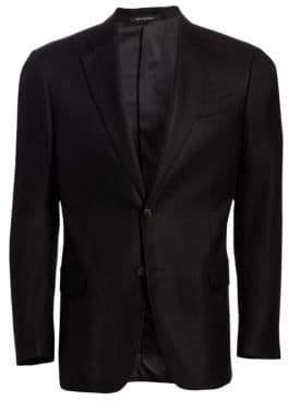 Emporio Armani Bamboo Wool-Blend Blazer