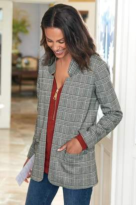 Soft Surroundings St. James Plaid Jacket