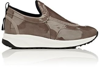 Maison Margiela Women's Patent Leather Slip-On Sneakers-NUDE $695 thestylecure.com