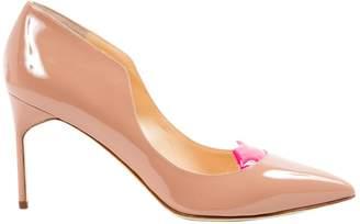 BEIGE Giannico Patent leather Heels