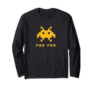 Alien Invaders Shirt Space Pew 8-bit Retro Video Game Tee