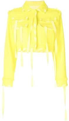 MSGM cropped multi-pocket jacket