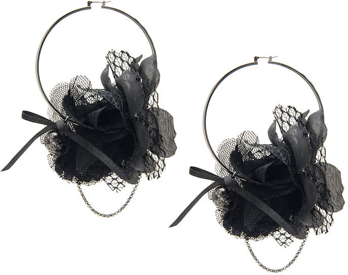 Hoops with Tulle Flowers