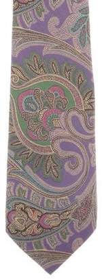 Ralph Lauren Purple Label Silk Paisley Print Tie