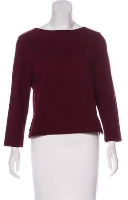 Apiece Apart Bateau Neck Long Sleeve Top