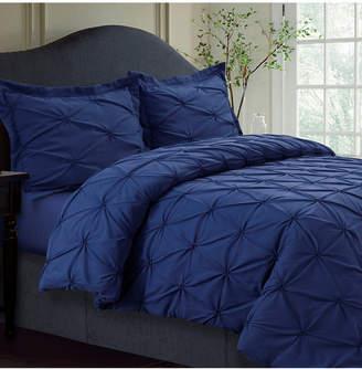 Tribeca Living Sydney Microfiber Oversized Queen Duvet Cover Set Bedding