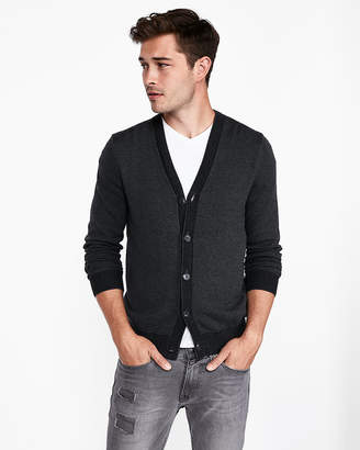Express Tipped V-Neck Cardigan