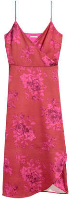 H&M Satin Wrap Dress - Red