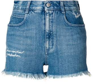 Stella McCartney distressed style shorts