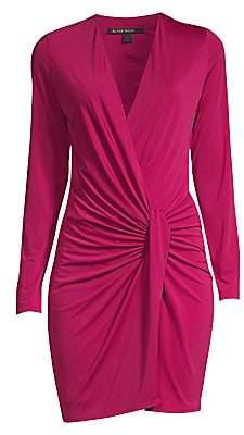 Black Halo Women's Laura Faux-Wrap Mini Dress
