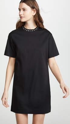 Victoria Beckham Victoria Logo Rib T-Shirt Dress