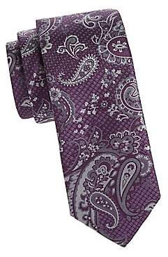 Canali Men's Layered Paisley Silk Tie