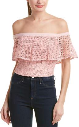 Bardot Off-The-Shoulder Crop Top