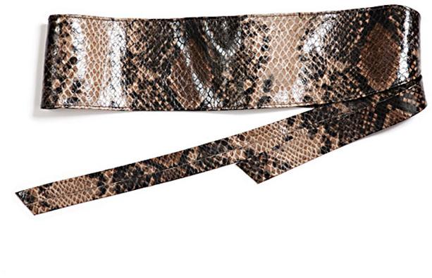 Elegantly Waisted Snake Cummerbund in Natural