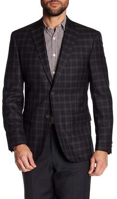 JB Britches Classic Fit Windowpane Wool Sportcoat