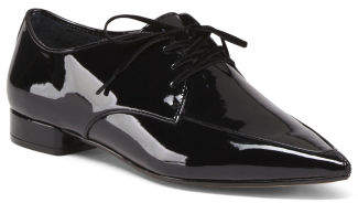 Patent Leather Pointed Toe Oxfords