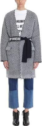 Golden Goose Chevron Belted Wrap Coat