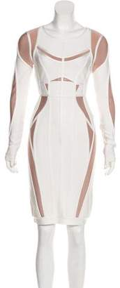 Herve Leger Bandage Long Sleeve Dress