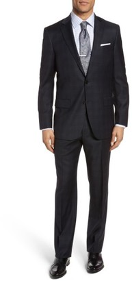 Men's Hart Schaffner Marx Classic Fit Windowpane Wool Suit $695 thestylecure.com