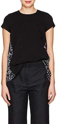 Sacai Women's Jersey & Satin T-Shirt