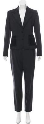 Dolce & Gabbana Embroidered Wool Pantsuit