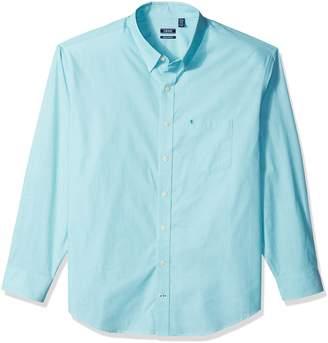 Izod Men's Big Essential Solid Long Sleeve Shirt