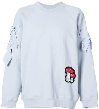 Vilshenko mushroom patch sweatshirt with bow details