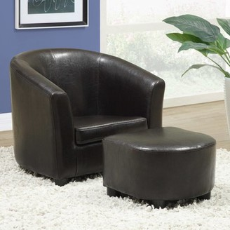 Monarch Juvenile LeatherLook Chair And Ottoman 2 Piece Set, Multiple Colors