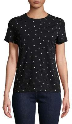 Lord & Taylor Petite Two-Tone Short-Sleeve Tee