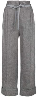 Giorgio Armani tie fastening cropped trousers