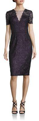 Theia Lace Sheath Dress $850 thestylecure.com