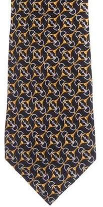 Fendi Horsebit Silk Tie