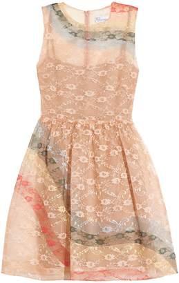 REDVALENTINO Rainbow lace sleeveless dress $1,150 thestylecure.com