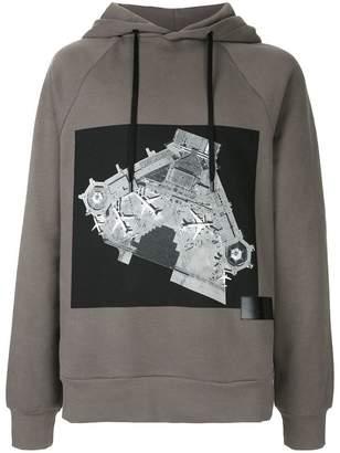 Public School printed hooded sweatshirt