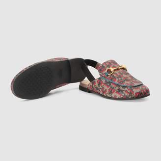 Gucci Children's Princetown GG wolves slipper