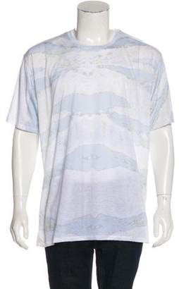 Baja East Abstract Print Jersey T-Shirt w/ Tags