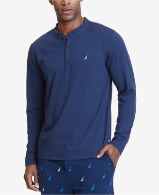 Nautica Men's Henley Pajama Shirt $38 thestylecure.com