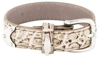 Bottega Veneta Crocodile Wrap Bracelet