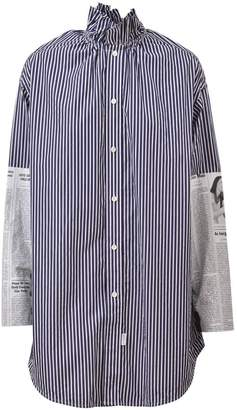 Balenciaga Striped Popeline Shirt