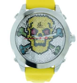 Jacob & co Five Time Zone Diamond Pave Skull Unisex Watch