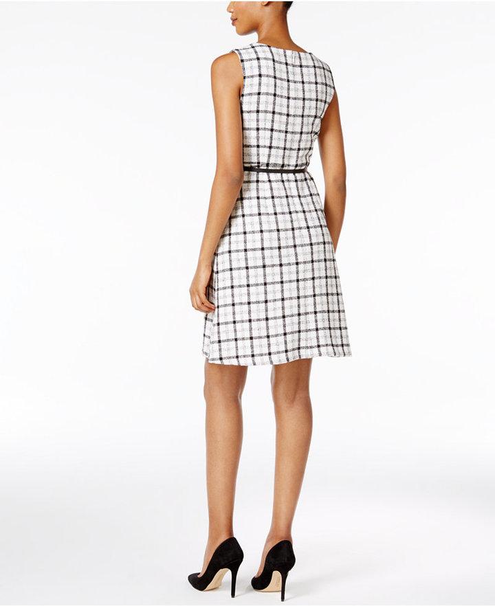 Nine West Belted Plaid Dress 2
