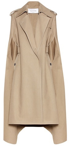 Valentino Valentino Cotton and linen blend trench coat