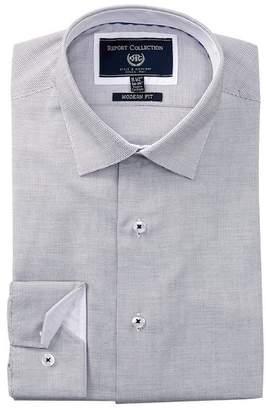 Report Collection Geo Print Modern Fit Dress Shirt