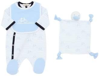 Armani Junior Cotton Jersey Romper, Bib & Toy
